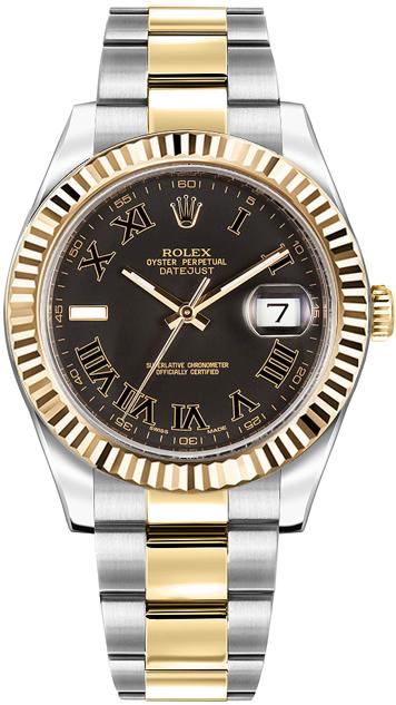 repliche Orologio da uomo Rolex Datejust II 41 in oro giallo e acciaio 116333