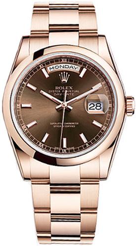 repliche Orologio da uomo Rolex Day-Date 36 con cupola lunata 118205