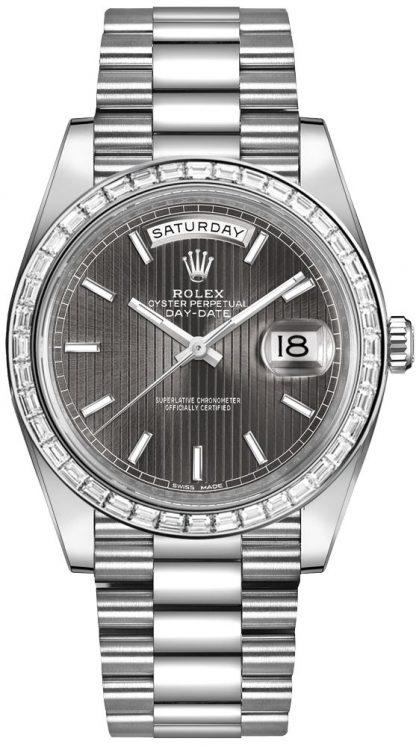 repliche Orologio da uomo Rolex Day-Date 40 con castone di diamanti 228396TBR