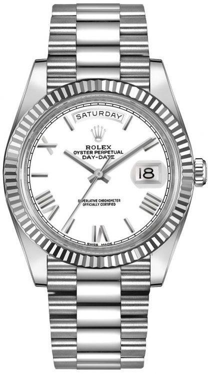 repliche Orologio da uomo Rolex Day-Date 40 in oro bianco 18 carati 228239