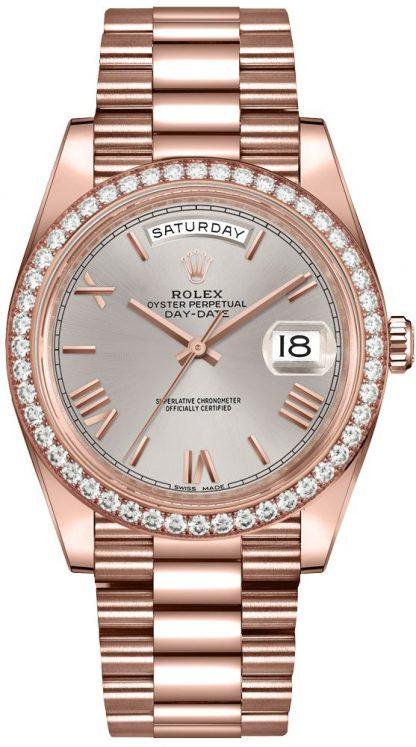 repliche Orologio da uomo Rolex Day-Date Sundust Dial President Bracelet 228345RBR