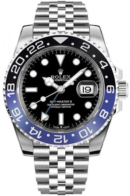 repliche Orologio da uomo Rolex GMT-Master II Batman Jubilee 126710BLNR