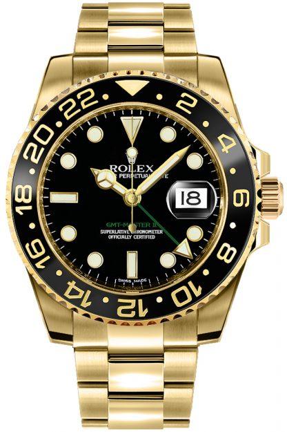 repliche Orologio da uomo Rolex GMT-Master II in oro 116718