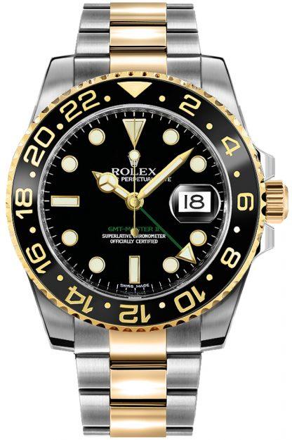 repliche Orologio da uomo Rolex GMT-Master II nero 116713