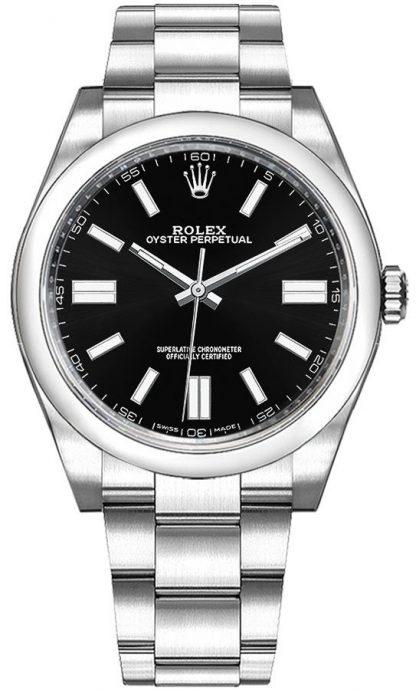 repliche Orologio da uomo Rolex Oyster Perpetual 36 quadrante nero 116000