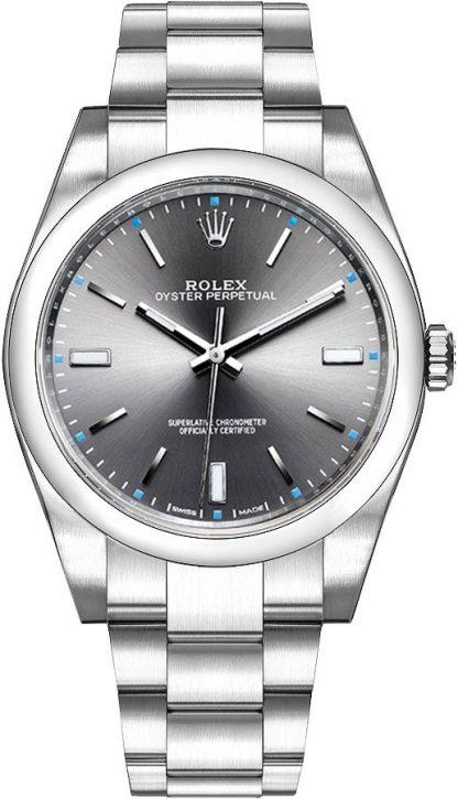 repliche Orologio da uomo Rolex Oyster Perpetual 39 Dark Rhodium 114300