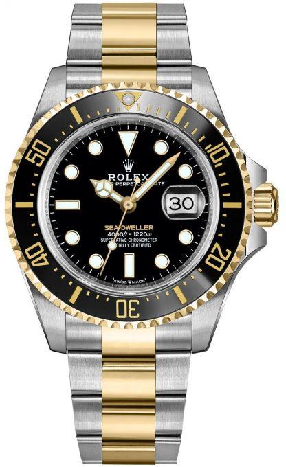 repliche Orologio da uomo Rolex Sea-Dweller in oro massiccio e acciaio Oystersteel 126603