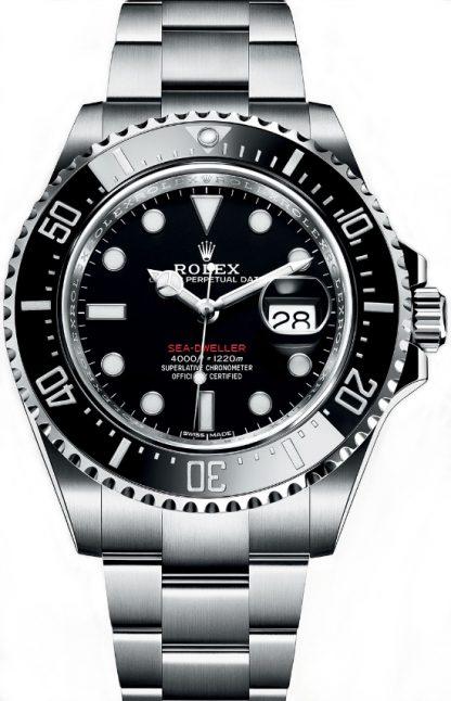 repliche Orologio da uomo Rolex Sea-Dweller quadrante nero 126600