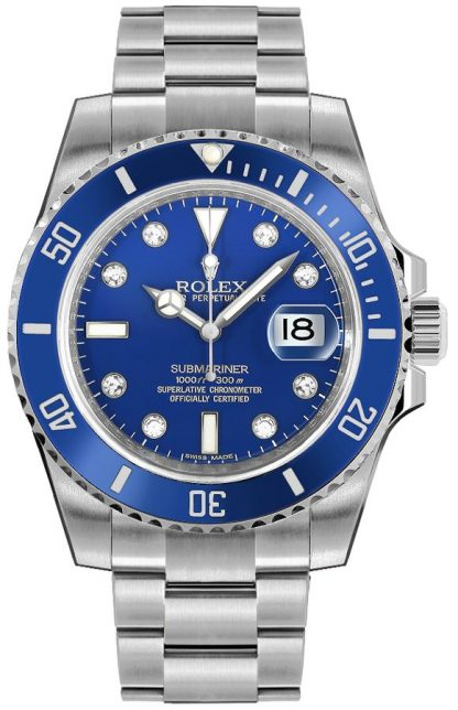 repliche Orologio da uomo Rolex Submariner Date Blue Diamond 116619