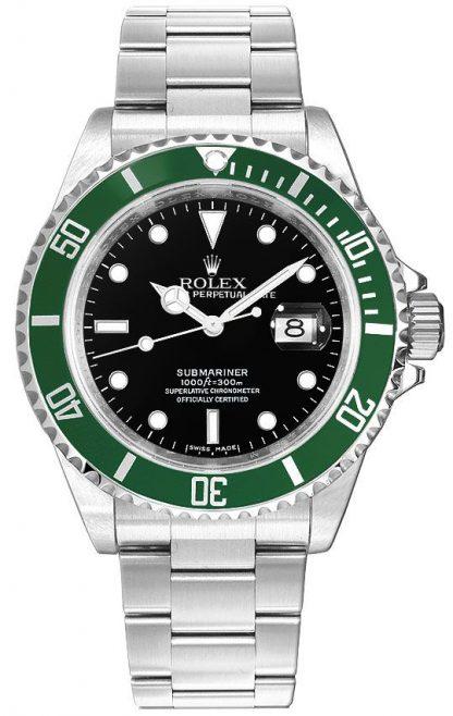repliche Orologio da uomo Rolex Submariner Date Kermit quadrante nero 16610