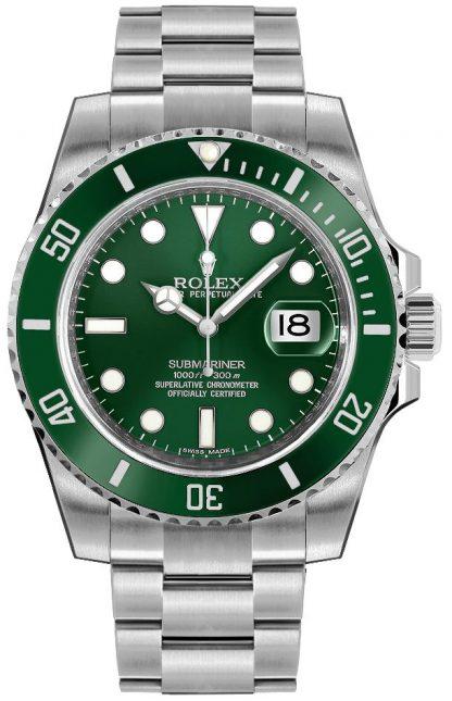 repliche Orologio da uomo Rolex Submariner Date quadrante verde 116610LV