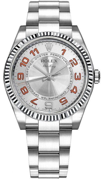 repliche Orologio di lusso Rolex Oyster Perpetual Air-King quadrante argento 114234