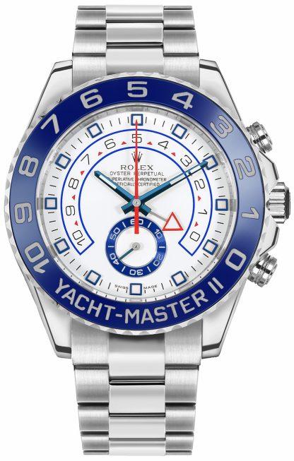 repliche Orologio di lusso da uomo Rolex Yacht-Master II quadrante bianco 116680