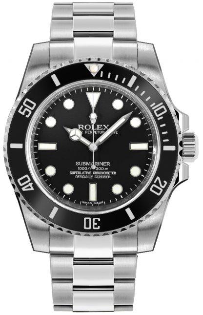 repliche Orologio subacqueo di lusso da uomo Rolex Submariner quadrante nero 114060