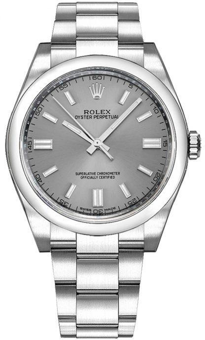 repliche Orologio svizzero Rolex Oyster Perpetual 36 quadrante in acciaio 116000