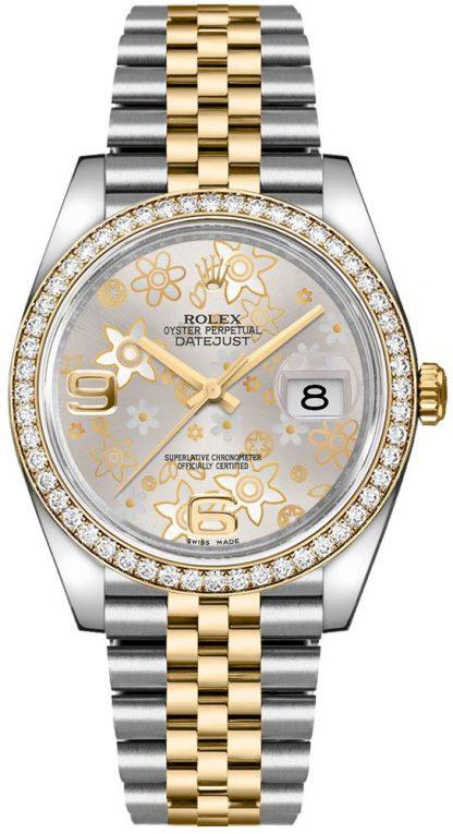 repliche Quadrante argento Rolex Datejust 36 da donna 116243