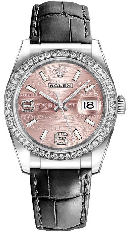 repliche Rolex Datejust 36 Orologio di lusso quadrante rosa 116189