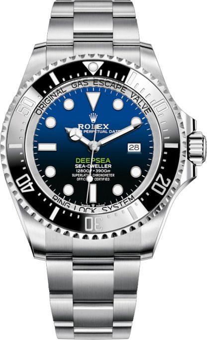 repliche Rolex Deepsea D-Blue Dial 44mm Orologio da uomo 126660