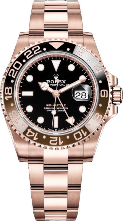 repliche Rolex GMT-Master II Root Beer in oro rosa 126715CHNR